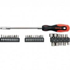 Precision screwdriver with bits