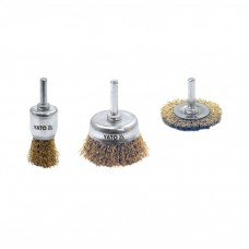Cup brush with shaft set