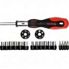 Ratchet screwdriver set